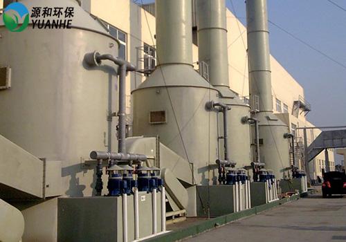 酸碱废气处理施工现场