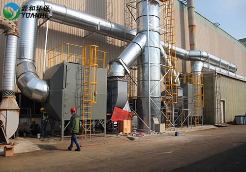 VOC废气处理施工现场